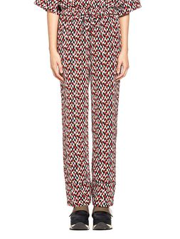 Marni Pants in silk crepe Crinkle print Woman