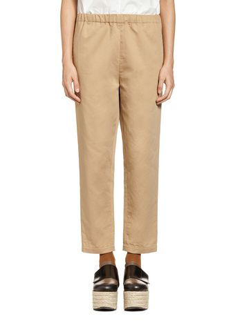 Marni Pants in cotton-and-linen drill Woman