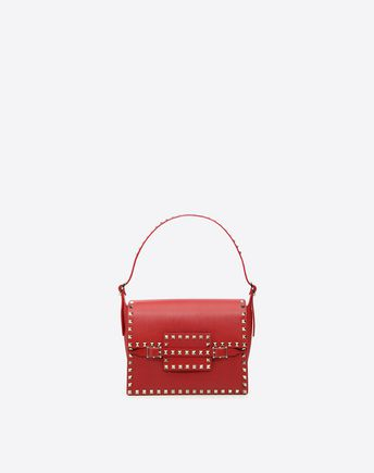 VALENTINO Rosso Rockstud Shoulder Bag 36958789RE