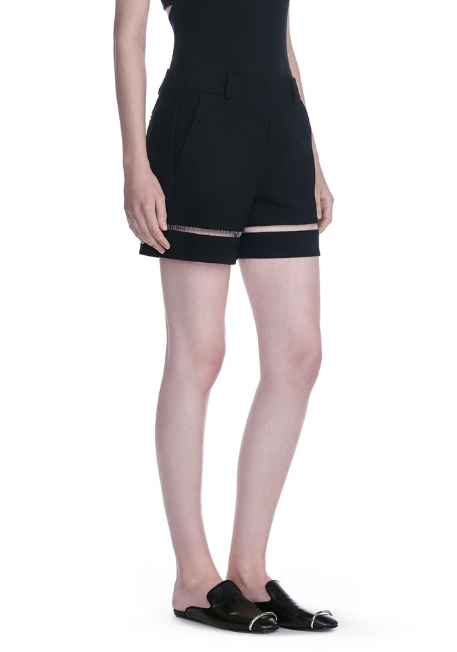 ALEXANDER WANG SHORTS Women HIGH WAISTED SHORTS WITH FISHLINE TRIM