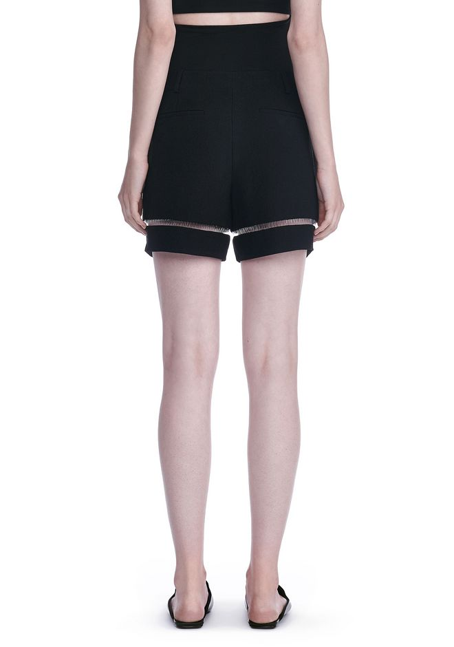 ALEXANDER WANG HIGH WAISTED SHORTS WITH FISHLINE TRIM SHORTS Adult 12_n_a