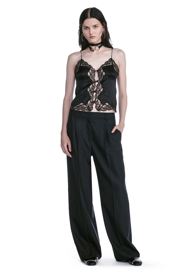 ALEXANDER WANG PANTS EXOTIC DANCER SINGLE PLEAT WOOL PANTS