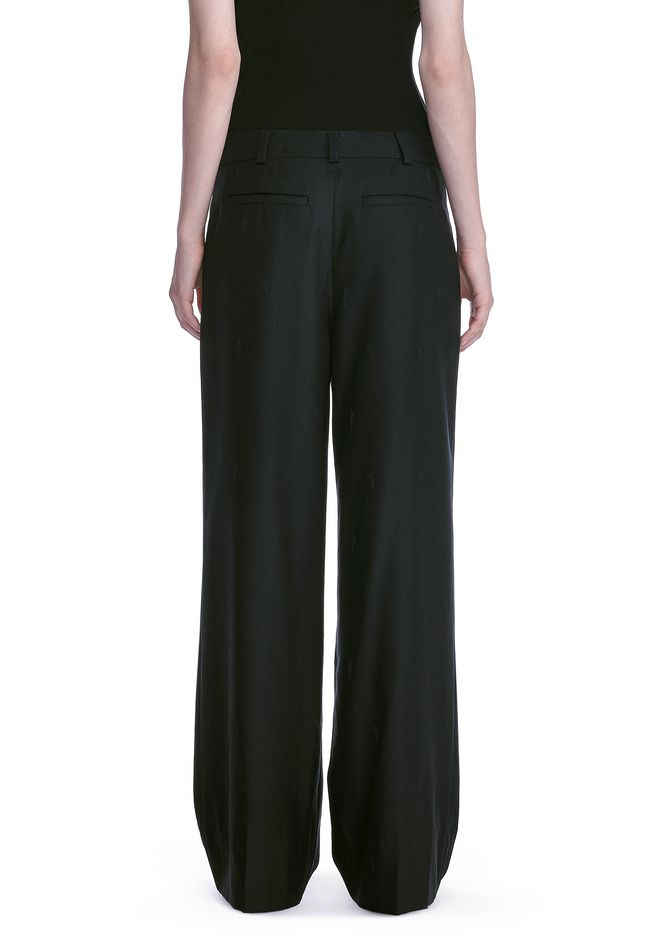 ALEXANDER WANG EXOTIC DANCER SINGLE PLEAT WOOL PANTS  PANTS Adult 12_n_a