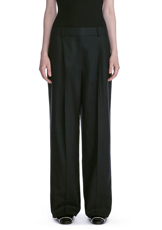ALEXANDER WANG EXOTIC DANCER SINGLE PLEAT WOOL PANTS  PANTS Adult 12_n_d