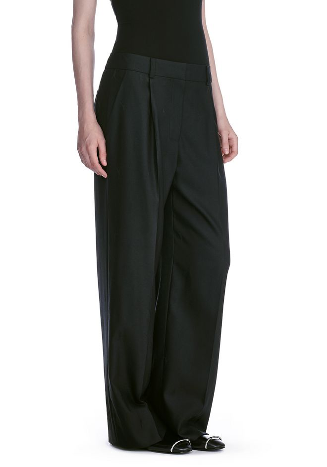 ALEXANDER WANG EXOTIC DANCER SINGLE PLEAT WOOL PANTS  PANTS Adult 12_n_e