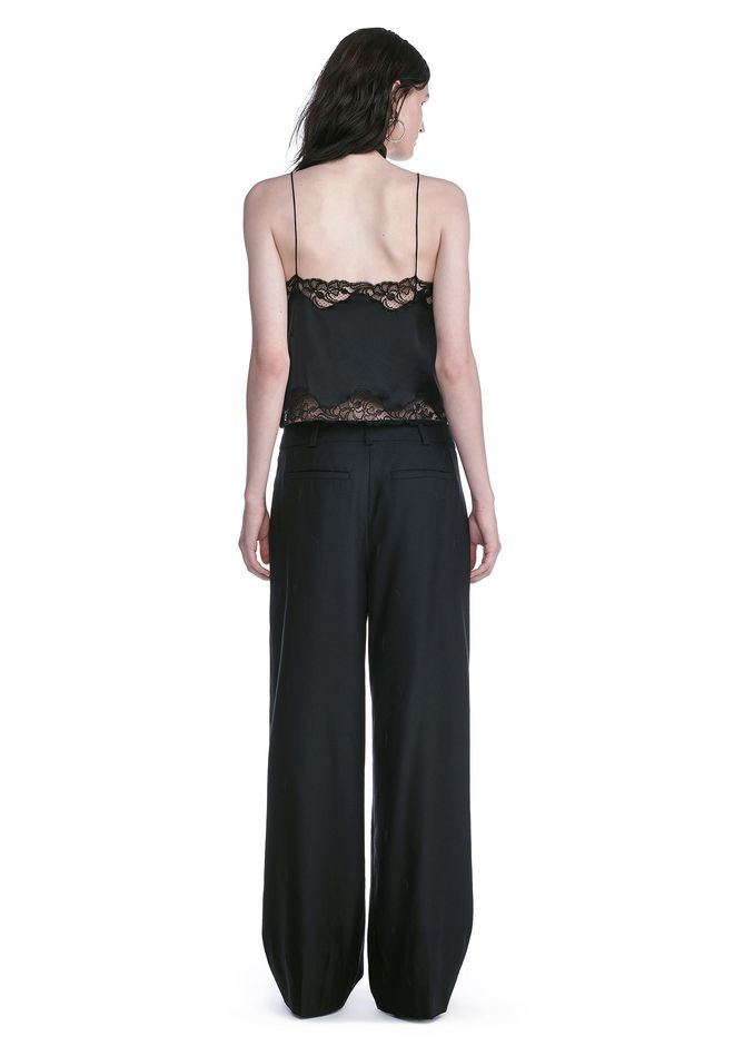 ALEXANDER WANG EXOTIC DANCER SINGLE PLEAT WOOL PANTS  PANTS Adult 12_n_r