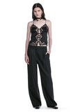 ALEXANDER WANG EXOTIC DANCER SINGLE PLEAT WOOL PANTS  PANTS Adult 8_n_f