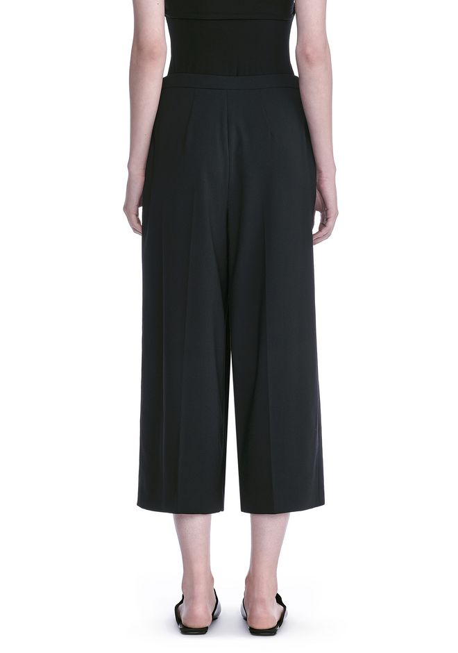 ALEXANDER WANG CROPPED PANTS WITH INVERTED PLEAT FRONT PANTS Adult 12_n_a