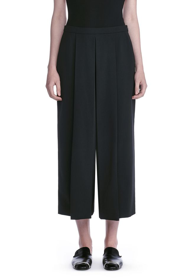 ALEXANDER WANG CROPPED PANTS WITH INVERTED PLEAT FRONT PANTS Adult 12_n_d
