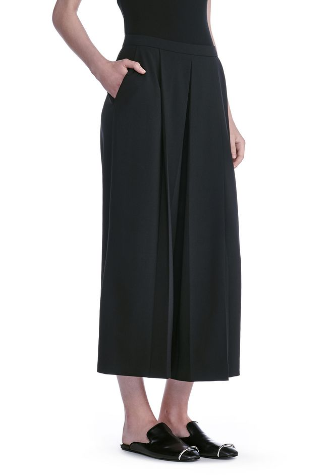 ALEXANDER WANG CROPPED PANTS WITH INVERTED PLEAT FRONT PANTS Adult 12_n_e