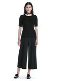 ALEXANDER WANG CROPPED PANTS WITH INVERTED PLEAT FRONT PANTS Adult 8_n_f