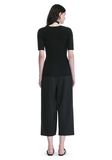 ALEXANDER WANG CROPPED PANTS WITH INVERTED PLEAT FRONT PANTS Adult 8_n_r