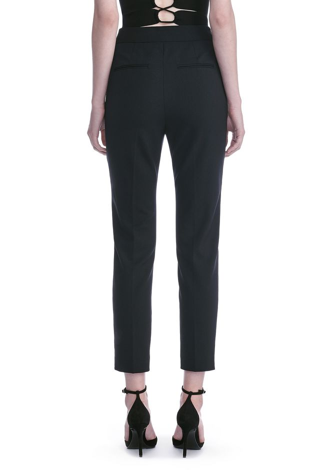 ALEXANDER WANG HIGH WAISTED TAILORED PANTS WITH ZIP POCKETS PANTS Adult 12_n_a