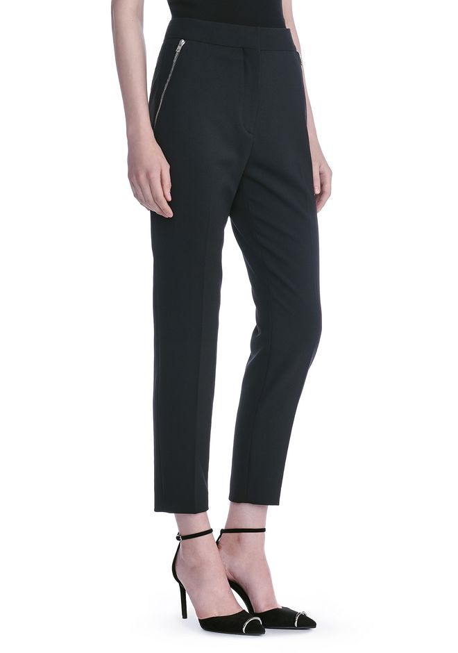 ALEXANDER WANG HIGH WAISTED TAILORED PANTS WITH ZIP POCKETS PANTS Adult 12_n_e