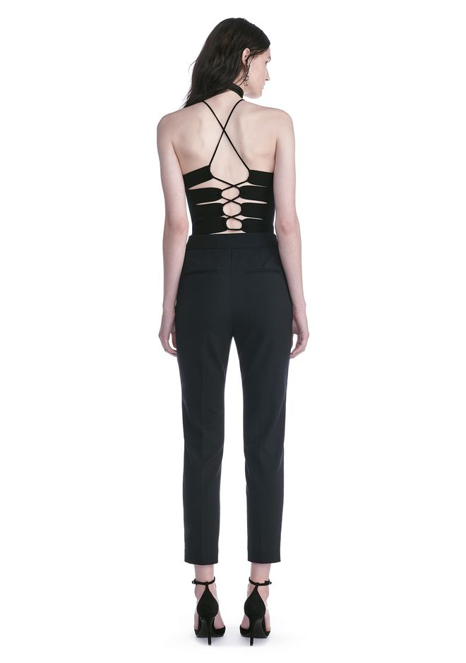 ALEXANDER WANG HIGH WAISTED TAILORED PANTS WITH ZIP POCKETS PANTS Adult 12_n_r