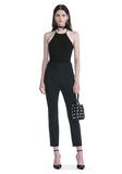 ALEXANDER WANG HIGH WAISTED TAILORED PANTS WITH ZIP POCKETS PANTS Adult 8_n_f