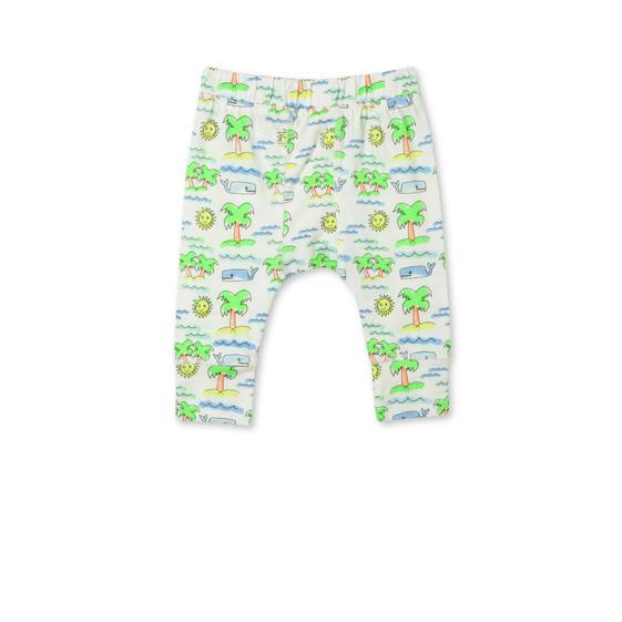Pantaloni Macy con Stampa Spiaggia Fluo