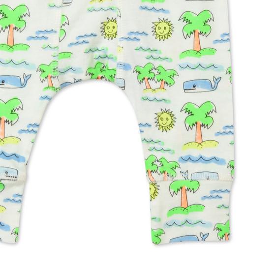 Fluro Beach Print Macy Trousers
