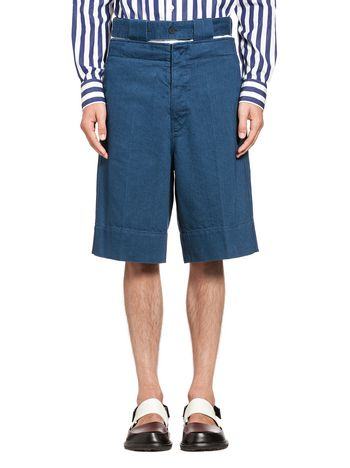 Marni Bermuda in cotton denim Man