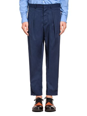 Marni Pants in cotton satin with buttons Man