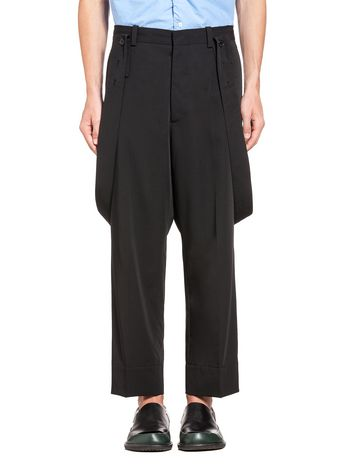 Marni Pants in light wool with braces Man