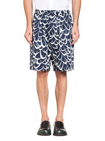 Marni Bermuda in cotton Flutter print Man