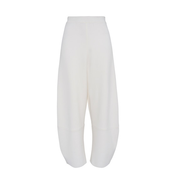 Cream Slashes Cropped Trousers