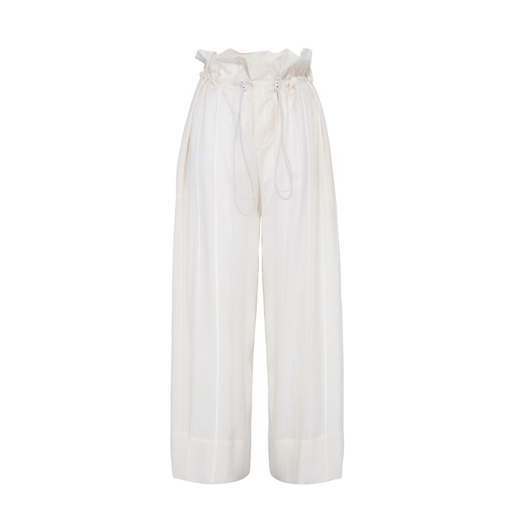 Cream High Waisted Trousers - STELLA MCCARTNEY