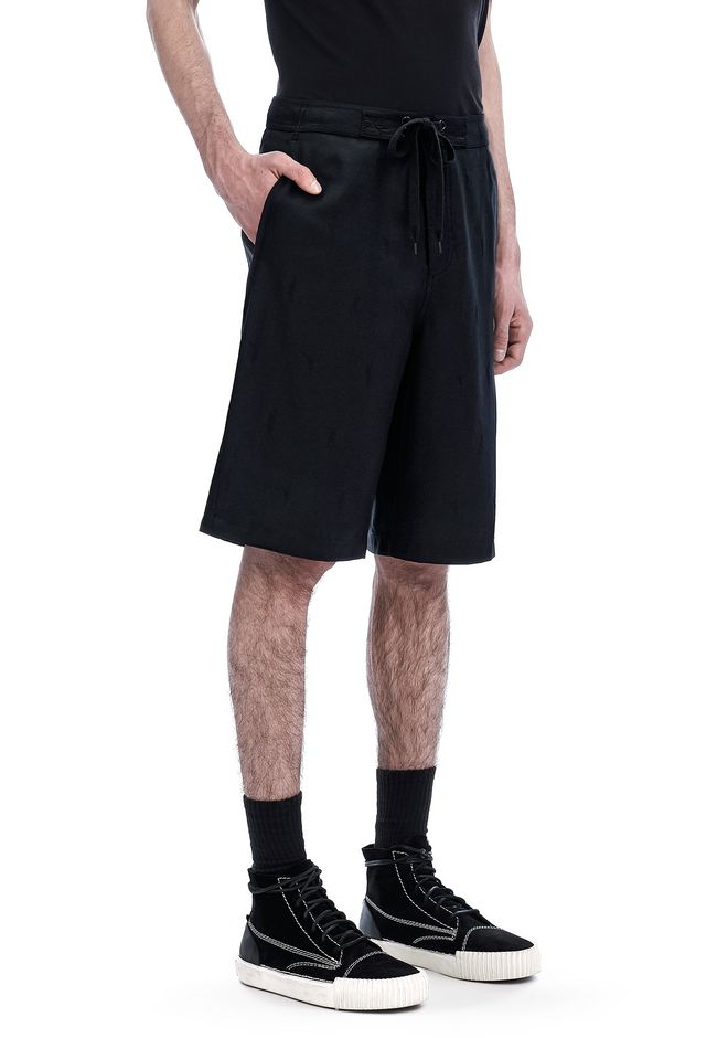 ALEXANDER WANG ready-to-wear-sale EXOTIC DANCER JACQUARD WOOL BOARD SHORTS