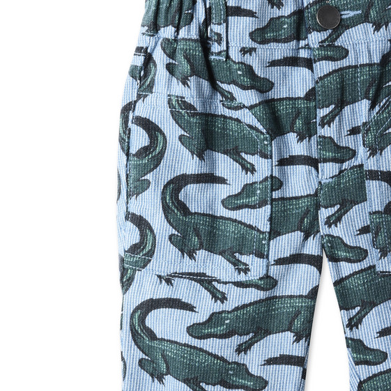 Striped Croc Print Joe Shorts