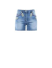 Denim shorts Woman MOSCHINO