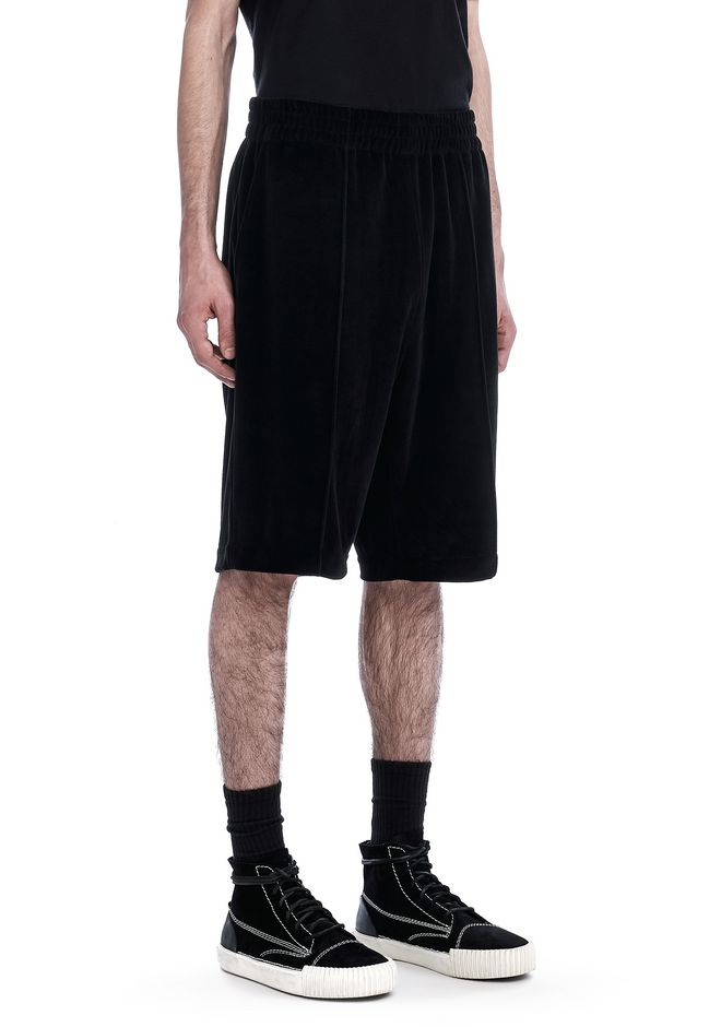 ALEXANDER WANG SHORTS Men VELOUR BASKETBALL SHORTS