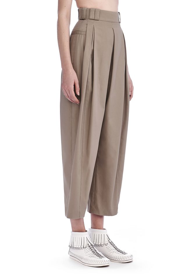 ALEXANDER WANG new-arrivals-ready-to-wear-woman HIGH WAISTED PLEAT FRONT PANTS