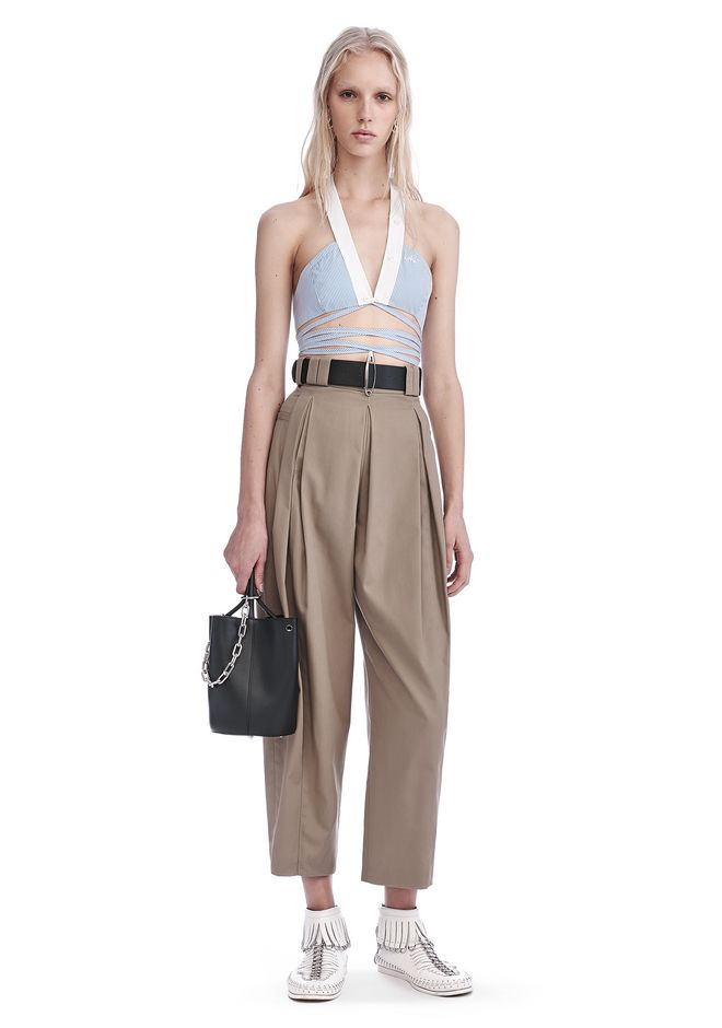 ALEXANDER WANG PANTS HIGH WAISTED PLEAT FRONT PANTS
