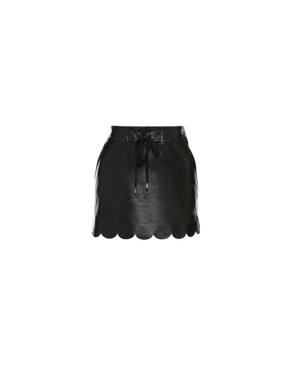 1a19403355 REDValentino Scallop trim leather skirt; REDValentino Scallop trim leather  skirt ...