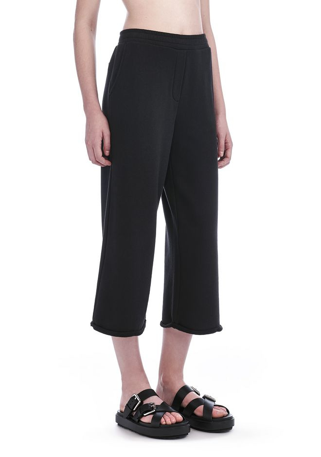 T by ALEXANDER WANG PANTALONS Femme FRENCH TERRY CROPPED WIDE LEG SWEATPANTS