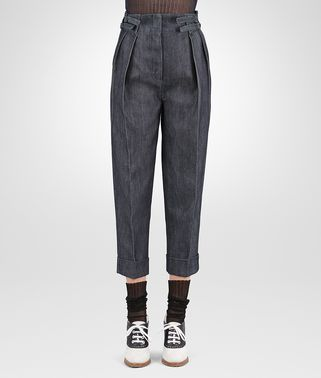 HOSE AUS SCHWEREM DRILL DENIM IN DARK NAVY