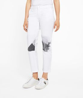 KARL LAGERFELD PHOTO PRINTED DENIM