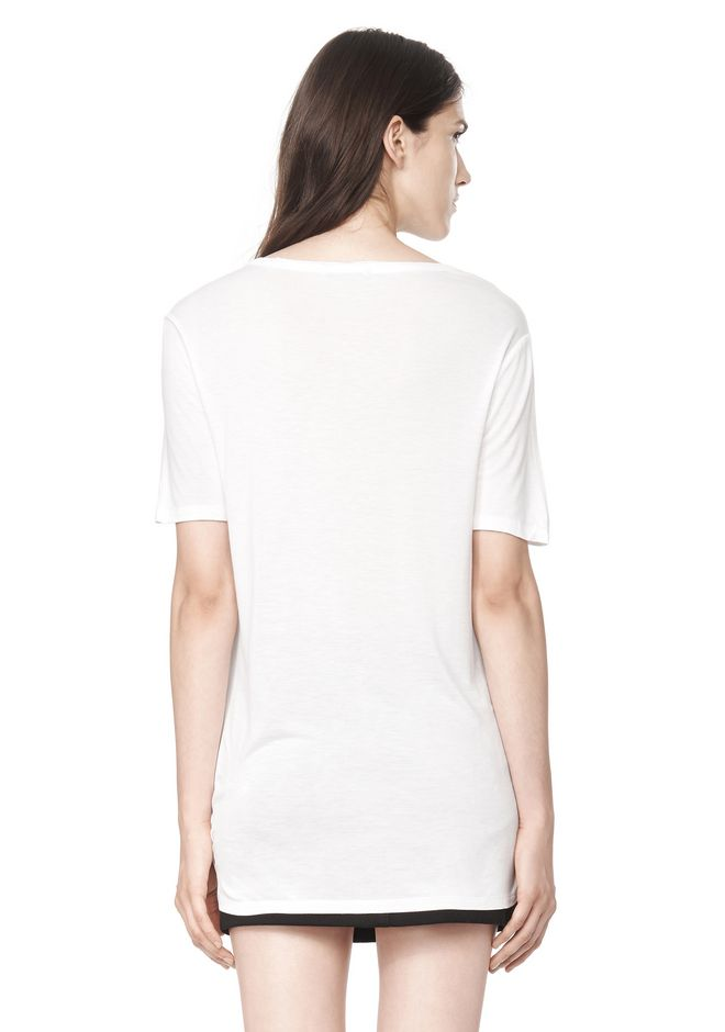 T by ALEXANDER WANG CLASSIC TEE WITH POCKET Short sleeve t-shirt Adult 12_n_d