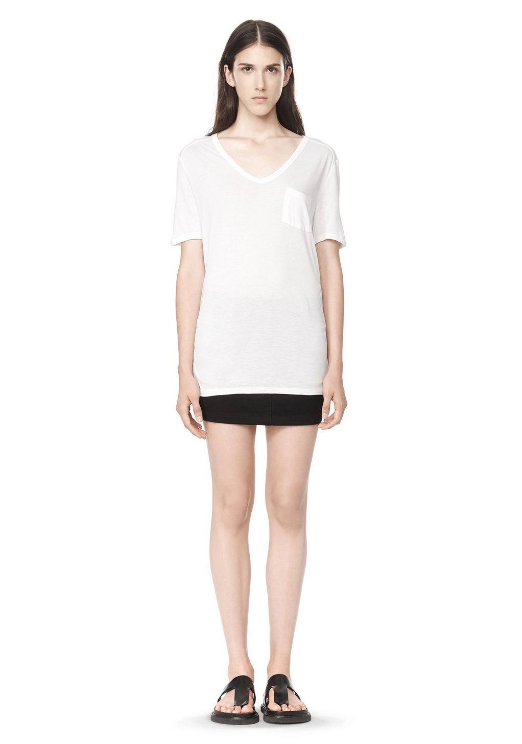 Alexander wang classic tee with pocket short sleeve t for Alexander wang t shirts
