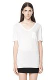 T by ALEXANDER WANG CLASSIC TEE WITH POCKET Short sleeve t-shirt Adult 8_n_e