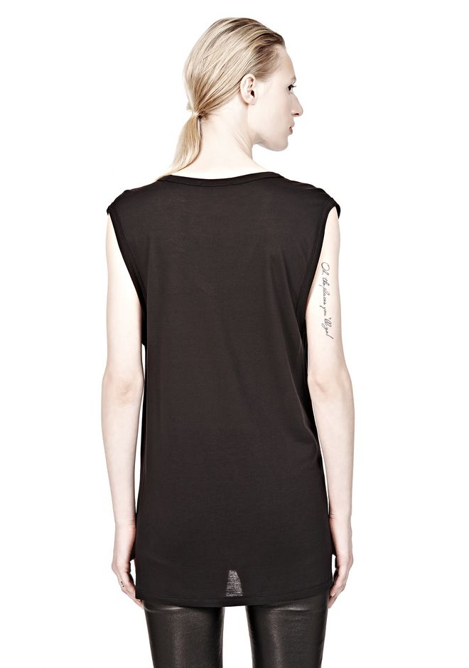 T by ALEXANDER WANG CLASSIC MUSCLE TEE WITH POCKET TEE Adult 12_n_d