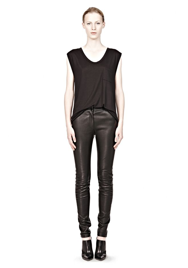 T by ALEXANDER WANG CLASSIC MUSCLE TEE WITH POCKET TEE Adult 12_n_f