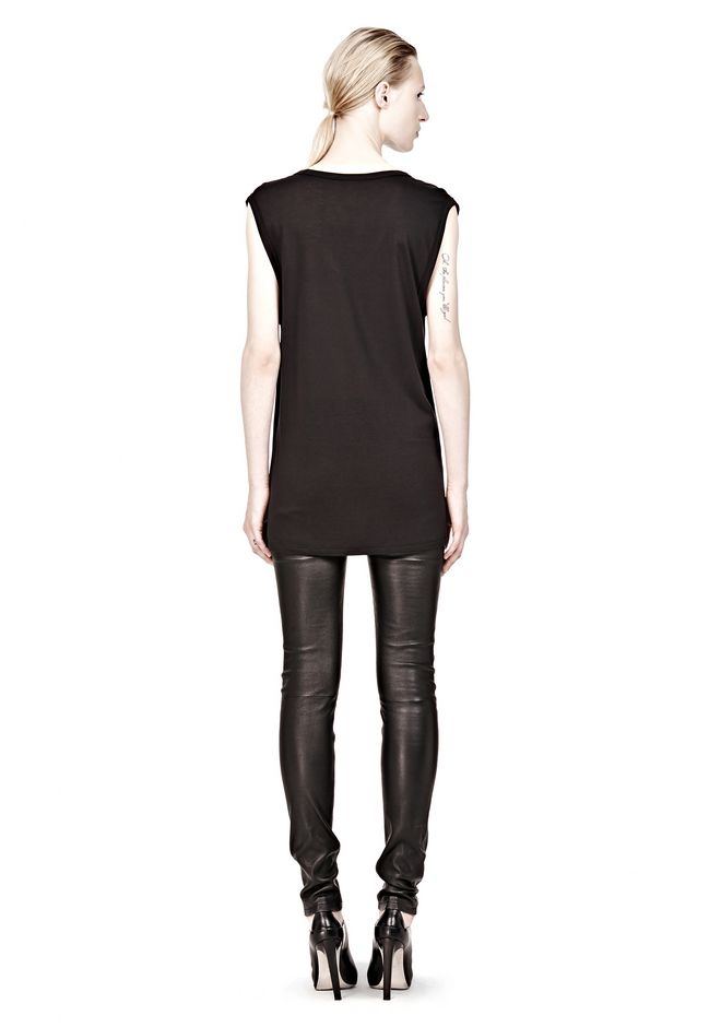 T by ALEXANDER WANG CLASSIC MUSCLE TEE WITH POCKET T-Shirt Adult 12_n_r