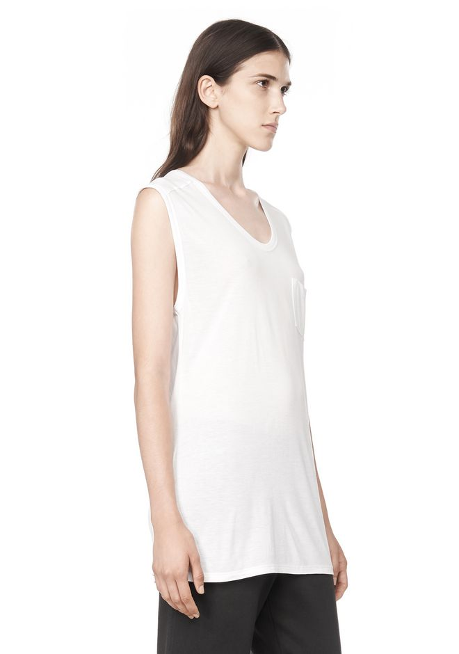 T by ALEXANDER WANG CLASSIC MUSCLE TEE WITH POCKET TEE Adult 12_n_a