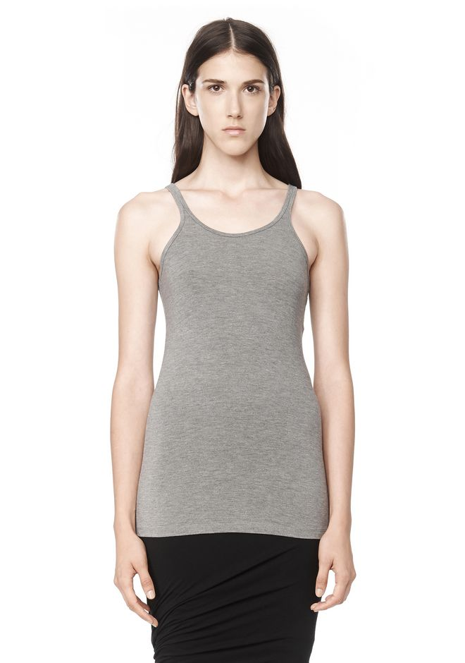 T by ALEXANDER WANG MODAL SPANDEX CAMI TANK TOP Adult 12_n_e