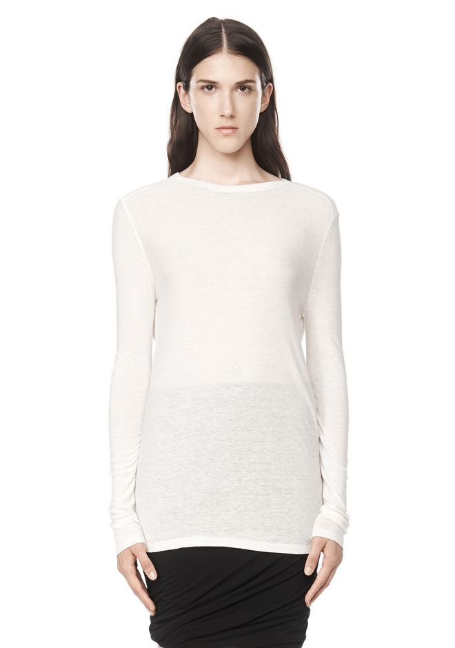 T by ALEXANDER WANG TEES SLUB CLASSIC LONG SLEEVETEE
