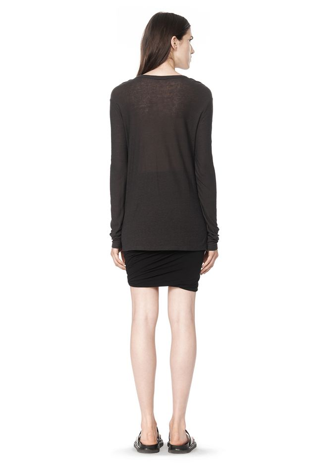 T by ALEXANDER WANG SLUB CLASSIC LONG SLEEVETEE  TEE Adult 12_n_r