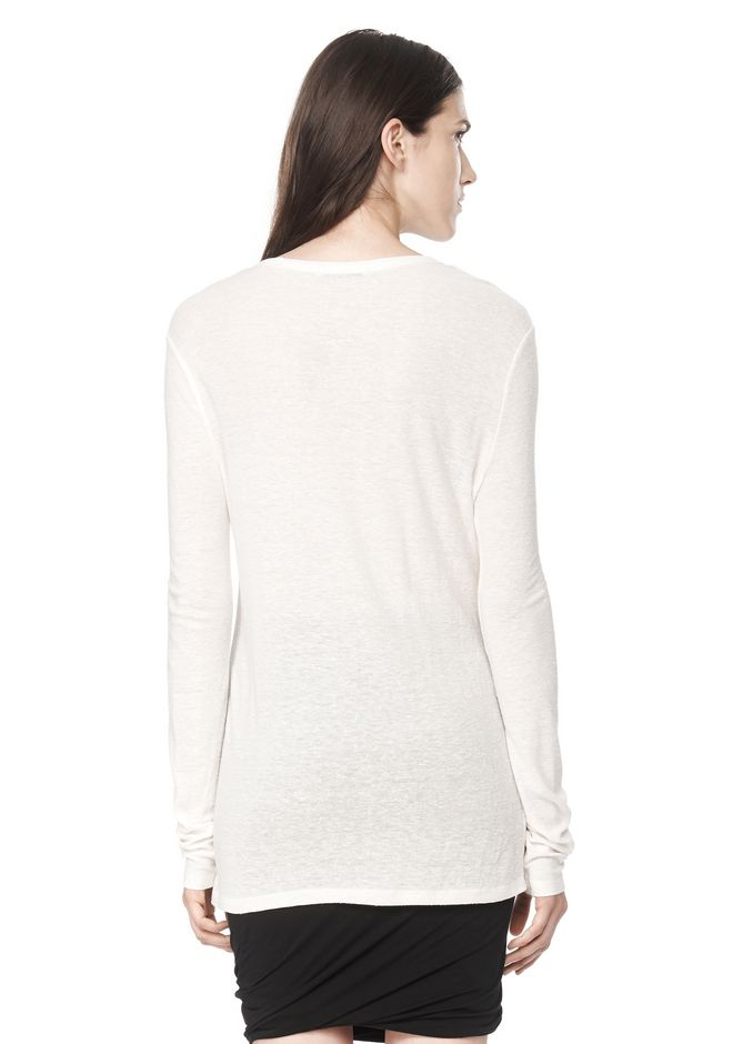 T by ALEXANDER WANG SLUB CLASSIC LONG SLEEVETEE  TEE Adult 12_n_d