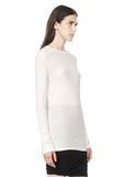 T by ALEXANDER WANG SLUB CLASSIC LONG SLEEVETEE  TEE Adult 8_n_a